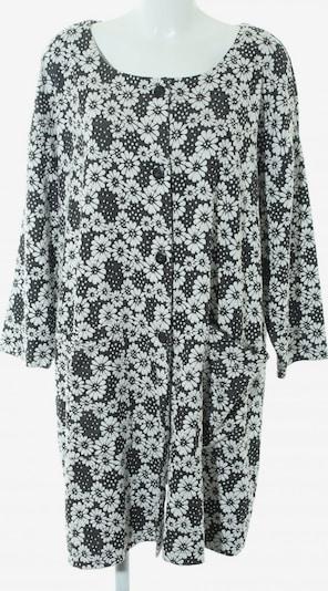 UNBEKANNT Cardigan in XXL in schwarz / weiß: Frontalansicht