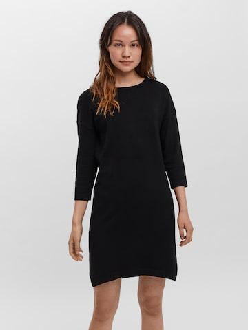 VERO MODA Pletené šaty - Čierna