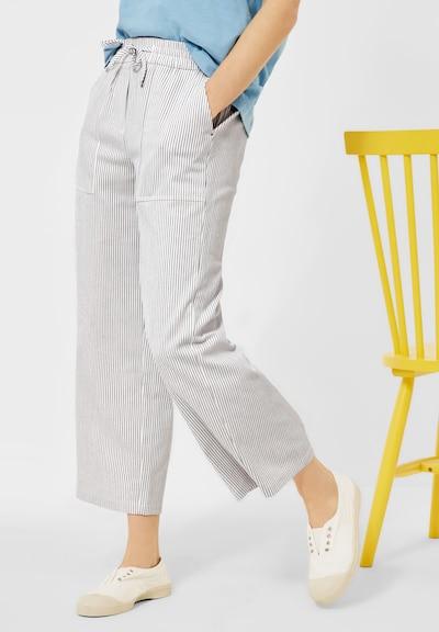 CECIL Kalhoty - šedá / bílá, Model/ka