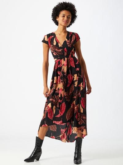 Mela London Kleid in rot / schwarz, Modelansicht