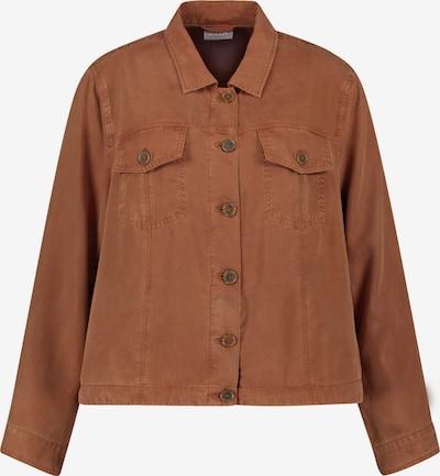 SAMOON Jeansjacke in braun, Produktansicht