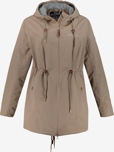 Ulla Popken Regenparka '727155' in dunkelbeige, Produktansicht
