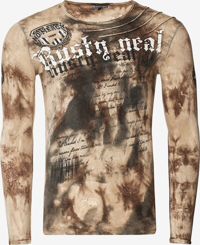 Rusty Neal Langarmshirt mit coolem Print in beige: Frontalansicht