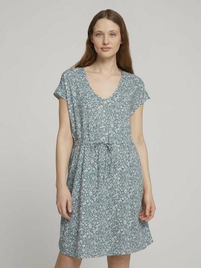 TOM TAILOR DENIM Kleid in hellblau / weiß, Modelansicht