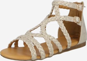 BULLBOXER Sandale in Beige