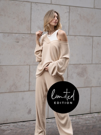 ABOUT YOU Limited Hose 'Amalia' by Justine in beige, Modelansicht