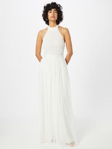 LACE & BEADS Evening Dress 'Edwina' in White