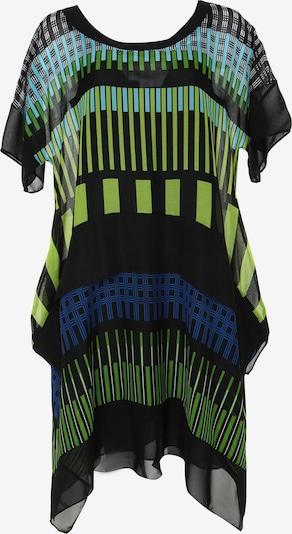 Madam-T Kleid 'Diksi' in türkis / himmelblau / hellgrün / schwarz / weiß, Produktansicht