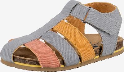 DULIS Sandale in grau / orange / rot, Produktansicht
