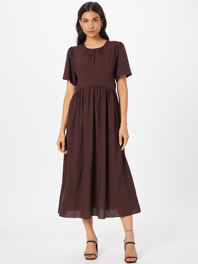 Designers Remix Klänning 'Valerie' i brun: Sedd framifrån