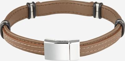 DIESEL Armband 'A-PLAK' i ljusbrun / svart / silver, Produktvy