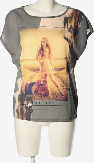 MOGUL Oversized Bluse in XS in pastellgelb / hellgrau / schwarz, Produktansicht