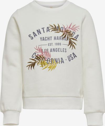 KIDS ONLY Sweatshirt 'Mille' in ocker / gelb / dunkelgrau / rosa / naturweiß, Produktansicht