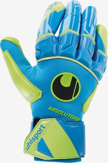 UHLSPORT Handschuh in hellblau / neongelb, Produktansicht