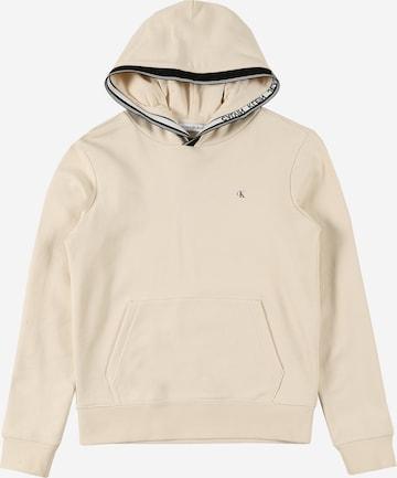 Calvin Klein Jeans Sweatshirt in Beige