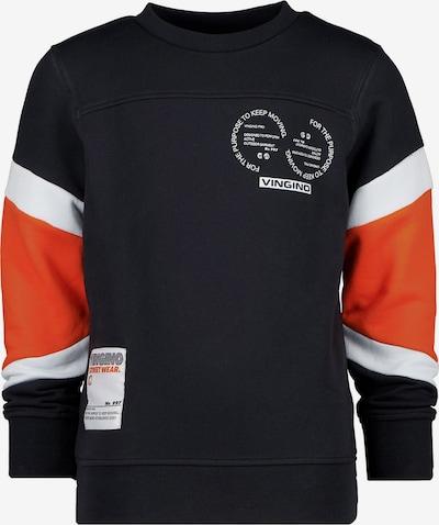 VINGINO Sweatshirt 'Nector' in orange / schwarz / weiß, Produktansicht