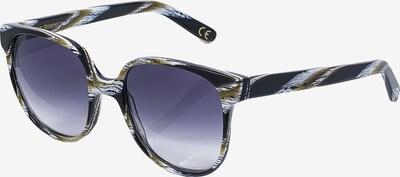 EYE RESPECT Retrosonnenbrille 'VALMAI' in beige / schwarz / weiß, Produktansicht