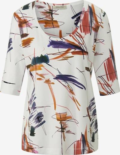 MARGITTES Shirt in de kleur Donkergroen / Donkerlila / Sinaasappel / Wit, Productweergave