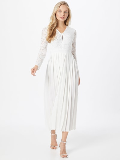 Rochie de cocktail Little Mistress pe alb, Vizualizare model