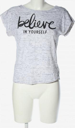 Jennyfer T-Shirt in S in hellgrau / schwarz, Produktansicht