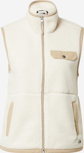 THE NORTH FACE Gilet 'CRAGMONT' en sable / kaki / blanc, Vue avec produit