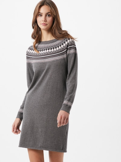 ESPRIT Плетена рокля в тъмносиво / пъстро, Преглед на модела