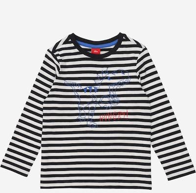 s.Oliver Junior T-Shirt in dunkelblau / weiß, Produktansicht