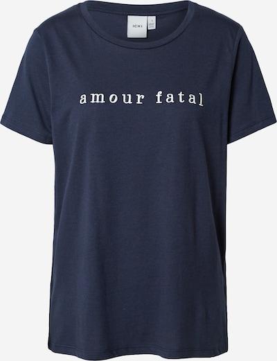 ICHI T-shirt i nattblå / vit, Produktvy