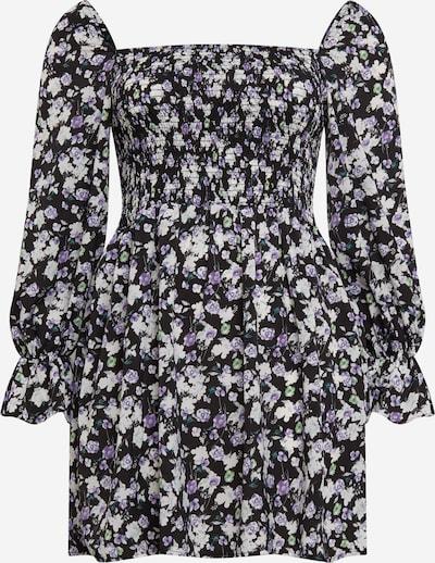 Missguided Plus Kleid in dunkellila / schwarz / weiß, Produktansicht