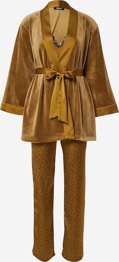 ETAM Pyjama 'Edrik' en bronze / noir, Vue avec produit