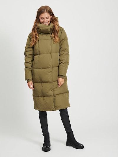 OBJECT Wintermantel in de kleur Kaki, Modelweergave