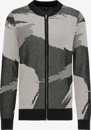 Giacchetta TUFFSKULL di colore grigio chiaro / nero / bianco lana, Visualizzazione prodotti