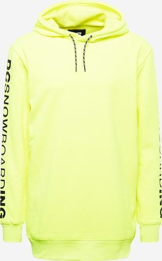 DC Shoes Sportsweatshirt  'DRYDEN' in gelb / schwarz, Produktansicht