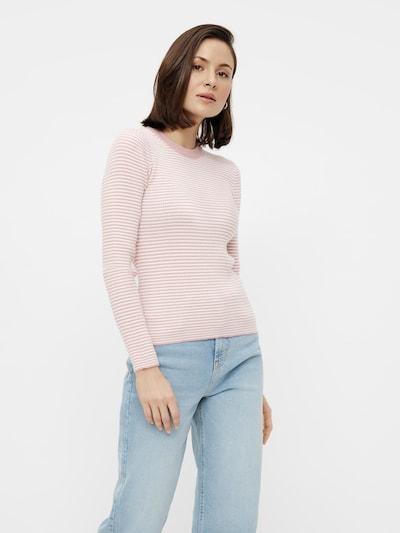 PIECES Pullover 'Penny' i pastelpink / hvid, Modelvisning
