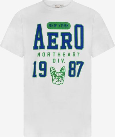AÉROPOSTALE T-Shirt in blau / grün / weiß, Produktansicht