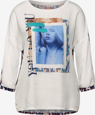 STREET ONE Shirt in mischfarben / weiß, Produktansicht