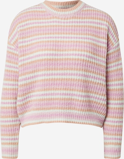 PIECES Sweater 'Gina' in Mauve / Apricot / Pink / White, Item view