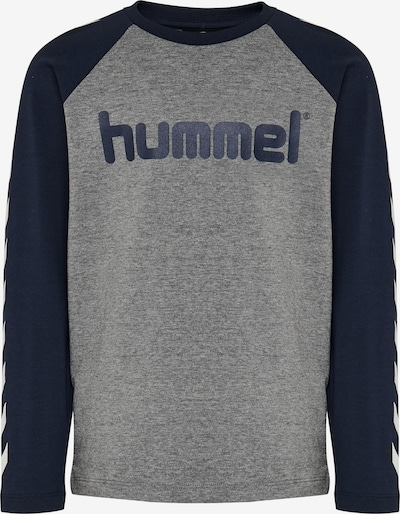 Hummel Shirt in Navy / Dark grey / White, Item view