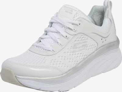 SKECHERS Baskets basses 'D´Lux Walker' en argent / blanc, Vue avec produit