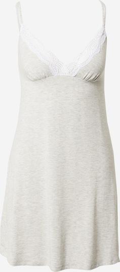 Dorina Nachthemd 'Frost' in grau / weiß, Produktansicht