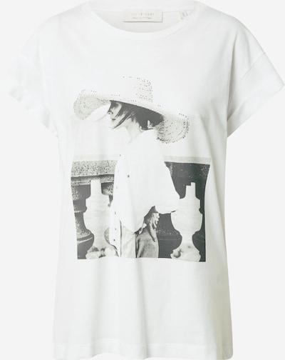 Tricou Rich & Royal pe negru / alb, Vizualizare produs