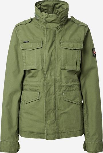 Superdry Tussenjas 'M65' in de kleur Navy / Groen / Rood / Wit, Productweergave