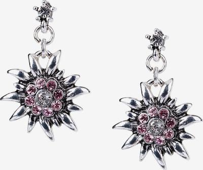 Six Ohrringe in lila / silber, Produktansicht