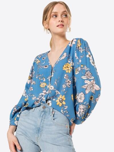 GAP Blouse in de kleur Blauw / Geel / Zwart / Wit, Modelweergave