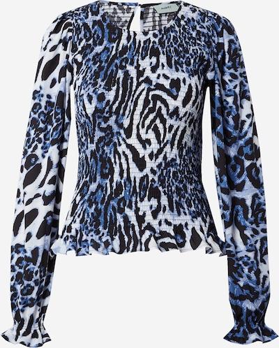Moves Bluse 'Danima' in blau / schwarz / weiß, Produktansicht