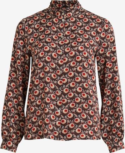 VILA Bluse 'Marie' in beige / braun / rot, Produktansicht