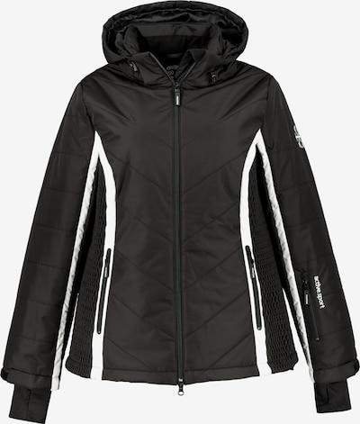 Ulla Popken Skijacke '725348' in schwarz / weiß, Produktansicht