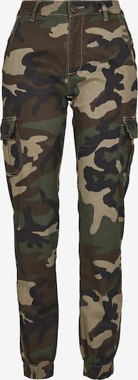Urban Classics Pantalon cargo en beige / marron / kaki / noir, Vue avec produit