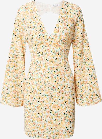 GLAMOROUS Kleid in grün / orange / weiß, Produktansicht