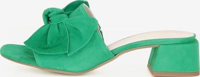 Gianluca Pisati Damen Pantolette Gloria in grün, Produktansicht